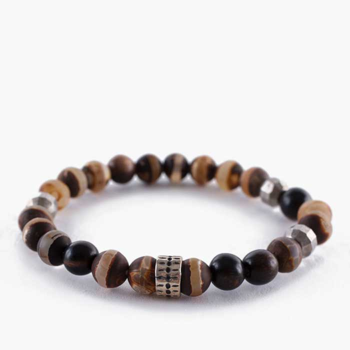 MATTE BROWN AGATE MIX